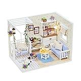 YFDD Maison de poupée à la Main Miniature Dollhouse Kit DIY Cadeaux d'anniversaire for Les Femmes et Les Filles à la Main Doll House aijia
