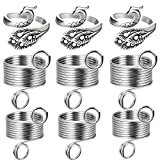 WILLBOND Knitting Loop Crochet Loop Knitting Accessories Includes Adjustable Yarn Guide Open Knitting Ring, Metal Thread Guide Finger Holder Knitting Thimble for Knitting Craft (6 Pieces)