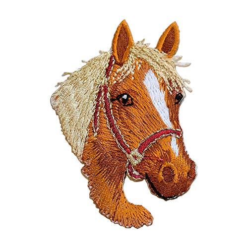 SuperiorParts Toppe termoadesive con cavallo, toppa ricamata per abbigliamento fai da te, jeans, magliette, giacche, zaini (cavallo)