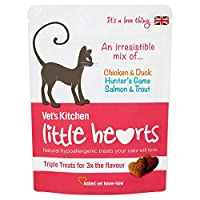 Chicken & Duck, Hunter's Game, Salmon & Trout Added vet know-how Natural hypoallergenic treats your cats will love Triple treats for 3x the flavour Added vet know-how
