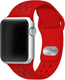 Affinity Bands Houston Cougars Debossed Silicone Band Compatible with The Apple Watch - 42mm/44mm