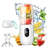 Personal Blender for Shakes and Smoothies - Safety Portable Blender USB Rechargeable with Six Large...
