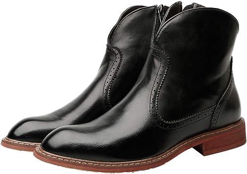 botas para Hombre Casuales Sencillo Antideslizante Suela Exterior Cremallera Lateral Popular Tendencia Retro Martin botas