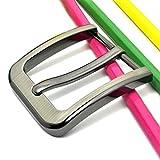 censhaorme Lega Fibbia ad ardiglione Men Leather Belt Brass Sostituzione Roller Fibbia della Cintura