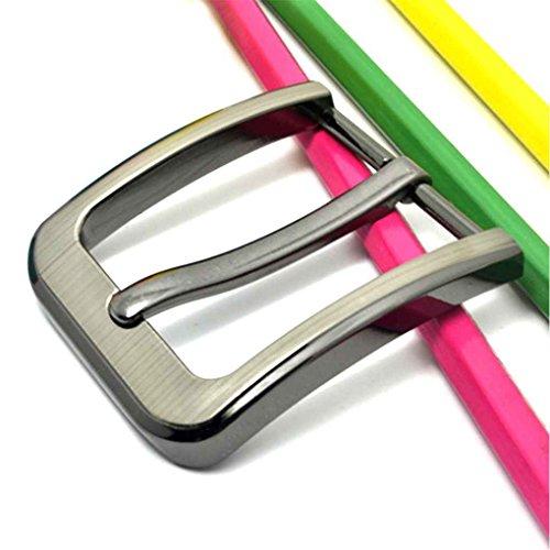 Sunlera Cinturón de aleación de Hebilla de los Hombres de Piel de reemplazo de latón Rodillo Hebilla de cinturón