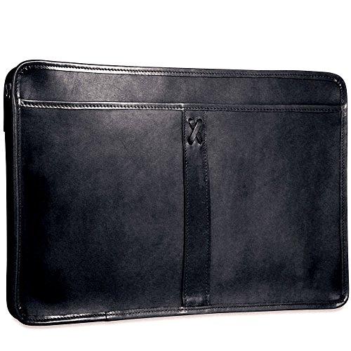 CrookhornDavis Men's American Bullhide Leather Underarm Portfolio Briefcase,