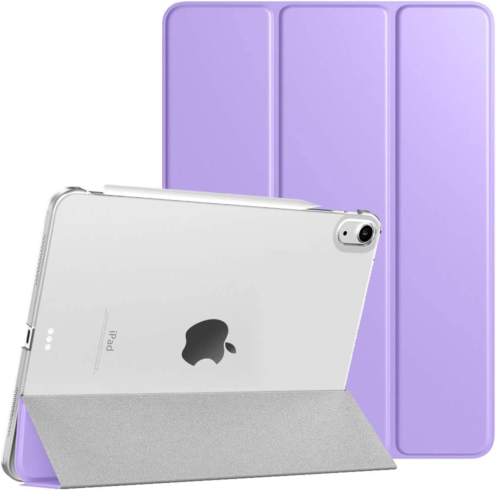 TiMOVO Case for New iPad Air 4th Generation, iPad Air 4 Case (10.9-inch, 2020), [Support 2nd Gen Apple Pencil Charging] Slim Stand Protective Cover Shell with Auto Wake/Sleep - Taro Purple