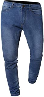 Zimaes Mens Oversized Classic-Fit Straight Leg Denim Long Pants Jeans
