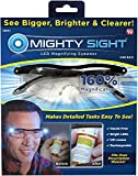 Mighty Sight Magnifying Glasses with LED Light & Travel Case - Great Eyeglasses for Readers, Women, Men, Kids - Use for Close Work or Reading Small Print & Labels - As Seen on TV
