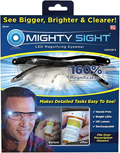 Magnifying Glasses with Led Light & Travel Case - Great Eyeglasses for Readers, Women, Men, Kids - Use for Close Work or Reading Small Print & Labels
