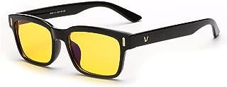 Rnow Yellow Tinted Computer Sunglasses Eye Strain Perfect for Gaming Anti Glare Glasses
