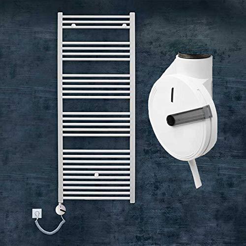 S-1035 Elektrischer Badheizkörper elektrisch Elektro Heizkörper Handtuchtrockner elektrisch Designheizkörper gerade weiß (1188 mm x 600 mm)