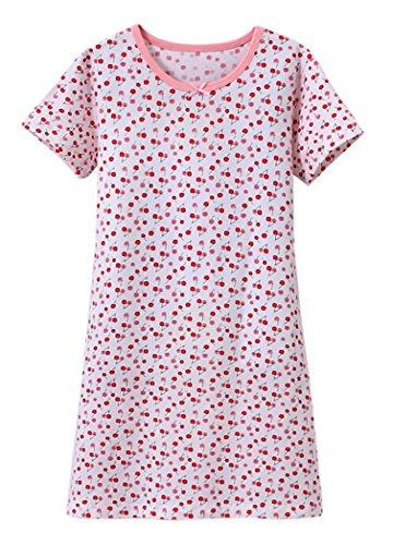 ABClothing Filles Princesse Fantaisie Chemises de Nuit Petit Arc Blanc 5-6 Ans
