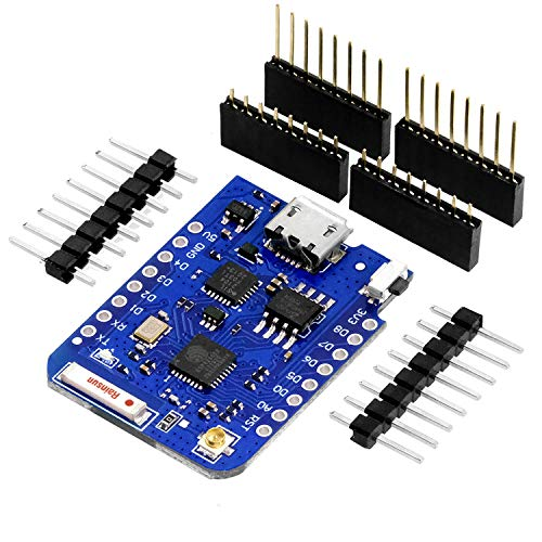 AZDelivery D1 Mini Pro 4MB ESP8266 ESP-8266EX CP2104 WiFi External Antenna Connector Micro USB Serial Converter IoT Development Board PWM/12C/1-Wire Compatible with Arduino including E-Book