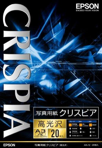 EPSON 写真用紙クリスピアA3ノビ 20枚 KA3N20SCKR