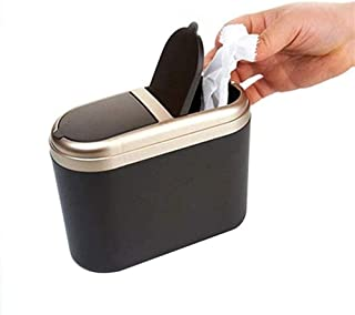 ZXJshyp Car Trash Can, Bedroom Bed Small Trash Can/Storage Box Mini Trash Can Storage Storage Box Hanging Car Supplies (Co...