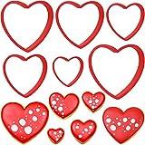 Olywee - Set di 6 formine per biscotti a forma di cuore, per San Valentino, matrimonio, compleanno, per la cottura