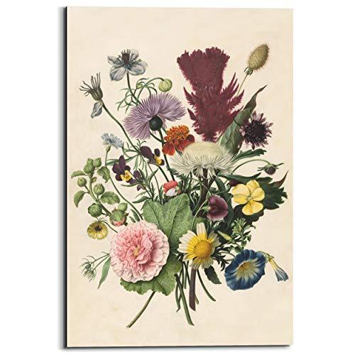 Schilderij Deco Panel Bloemen boeket Stilleven met bloemen - Rijksmuseum - Kunst - 60 x 90 cm
