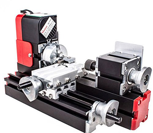 Learn More About T-king(TM) DIY DC Miniature Metal Multifunction Lathe Machine Mini lathe For DIY Mo...