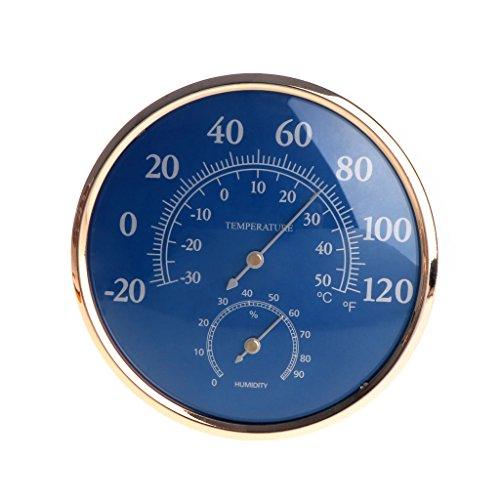 Besttse Grande Ronde Thermomètre hygromètre Température Humidité Jauge de Moniteur Mètre Bleu