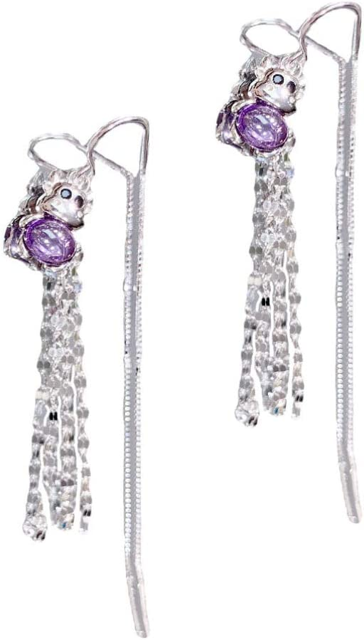 Challenge Charlotte Mall the lowest price GARNECK 1 Pair Cattle Ear Jewelry Earrings Chic Silver L Stylish