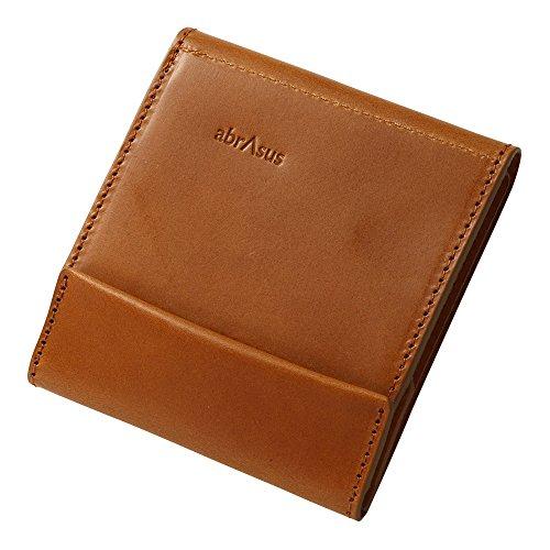 薄い財布 abrAsus ブッテーロレザーエディション キャメル