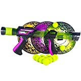 Hog Wild Atomic Power Popper 12X with 24 Balls & 3 Targets - Rapid Fire Foam Ball Blaster Gun with Sticky Target and Refill Balls - 4+