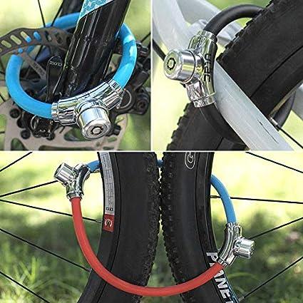 Ciclismo Mini candado de bicicleta 2 Llaves universal ...
