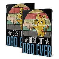 """Best Cat Dad Ever Rude Cat6 Ipad Ipad 7th/Ipad Air3 & Pro とタブレット保護ケース フリップカバー保護ホルスター マルチアングル回転 Ipad Air3 10.5"""""""