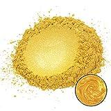 MOSUO Pigmentos para Resina Epoxi, 50g Dorado Pigmentos en Polvo Natural Mica en Polvos Tintes para...