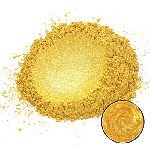 MOSUO Pigmentos para Resina Epoxi, 50g Dorado Pigmentos en Polvo Natural Mica en Polvos Tintes para Teñir Resina Epoxi, Jabones, Slime, Cera, Pintura, Vela, Uñas, Cosmético y Arte de Bricolaje