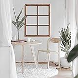 Glitzhome 28' x 22' Rustic Window Frames, Wooden Window Pane Wall Decor Vintage Hanging Wood Window Frames