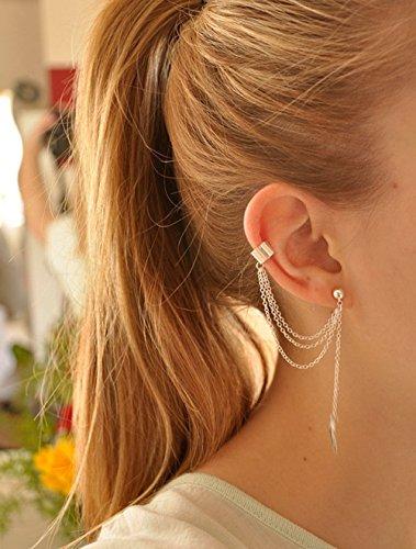 Yean - Orecchini per donne e ragazze, colore argento