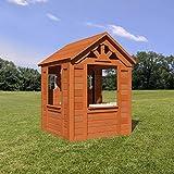 Beauty.Scouts Holzspielhaus Svante mit Blumentopfhalter u. Spielzubehör 117x107x140cm aus...