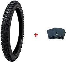 MMG Combo Dirt Bike Tire Size 80/100-21, Includes Inner Tube Size 80/100-21 TR4 Valve Stem
