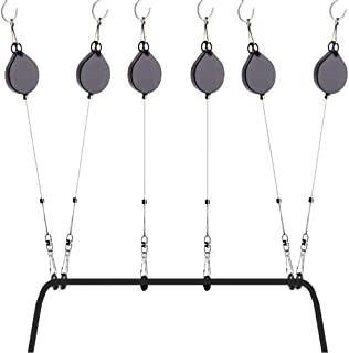 KIWI design VR Cable Management | Ceiling Suspension System for Valve Index/HTC Vive/Vive Pro Virtual Reality/Oculus Rift/Sony Playstation VR Accessories (6 Packs, Retractable)