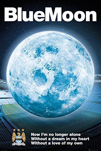 GB Eye Ltd, Manchester City, Blue Moon 2014, Maxi Poster