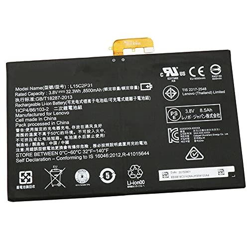 L15C2P31 3.8V 8500mAh 32.3Wh Laptop Batería Repuesto para Lenovo Yoga Book YB1-X91F X91L X91X YB1-X90F 1ICP4/86/103-2 SB18C04740