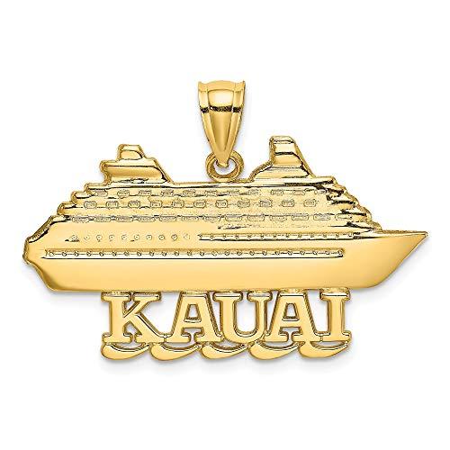 Anhänger KAUAI Cruise Schiff, 14 Karat Gelbgold, 2-D-poliert, poliert