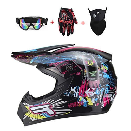 LWAJ Youth Motorcycle Full Face Helmet, for Teenagers Boys...