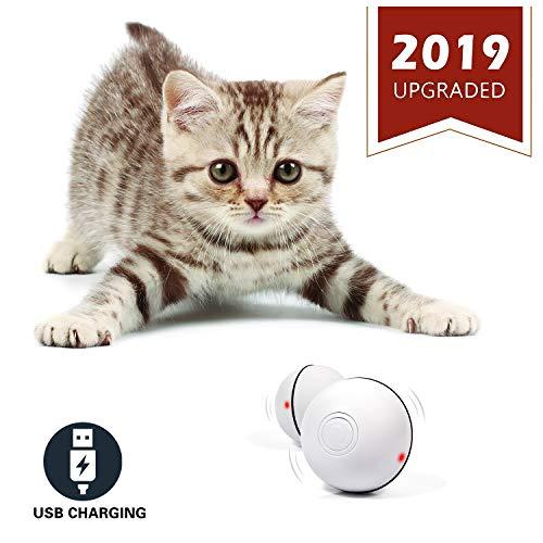 YOFUN Smart Interactive Cat Toy - Newest Version 360 Degree Self Rotating Ball,...