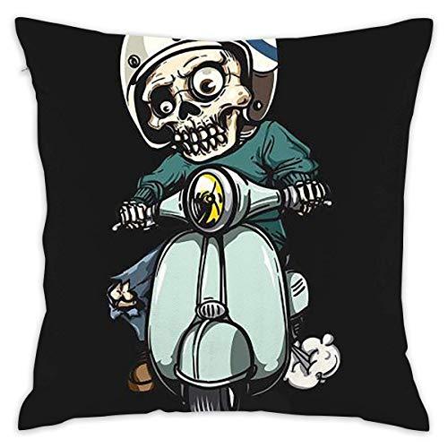 Suzanne Betty Funda de cojín de zombi en scooter, funda de almohada decorativa para sofá, asiento de coche, funda de almohada suave de 45,7 x 45,7 cm