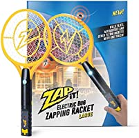 ZAP IT! Large Bug Zapper - Electric Mosquito, Fly Killer and Bug Zapper Racket - 4000 Volt - Rechargeable Via USB,...