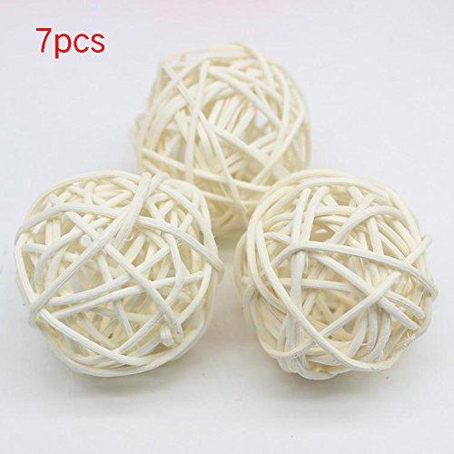 SDYDAY - Juego de 7 bolas de mimbre de colores para decorar el hogar, boda, Navidad, fiesta, decoración para...