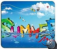 ZMviseクールな夏のパターンファッション漫画マウスパッドマットカスタム四角形ゲームマウスパッド
