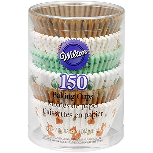 Wilton 150 Count Woodland Animals Baking Cups Value Pack, Assorted