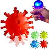 4 Covid Light Up Squishy Bath Toys - Party Favors Gifts Squishies Goodie Bag Pinata Stuffers