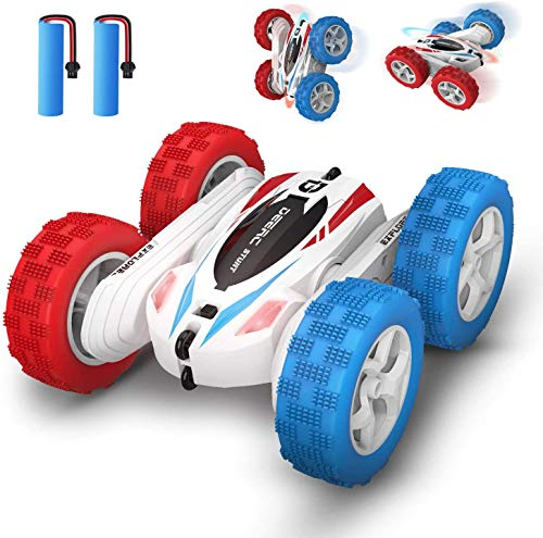 DEERC DE35 Ferngesteuertes Auto für Kinder, RC Car Wasserdicht mit 2 Akkus, 2,4 Ghz Fernbedienung,360° Flip Spielzeugauto Fahrzeug Outdoor und Indoor für Jungen und Mädchen