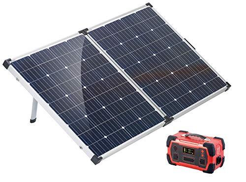 reVolt Stromgenerator: Powerbank & Solar-Konverter mit mobilem 160-Watt-Solarpanel, 216Ah (Powerbank Solar und Strom)