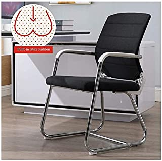 DBL Escritorio silla de la computadora de tareas Inicio Silla de tela con respaldo medio Silla de oficina moderna con látex y constante del amortiguador apoyabrazos Las sillas de escritorio